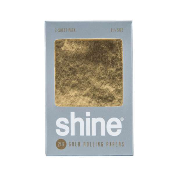 Shine 24k Gold Rolling Papers 1 1/4″ Accessories Evertree