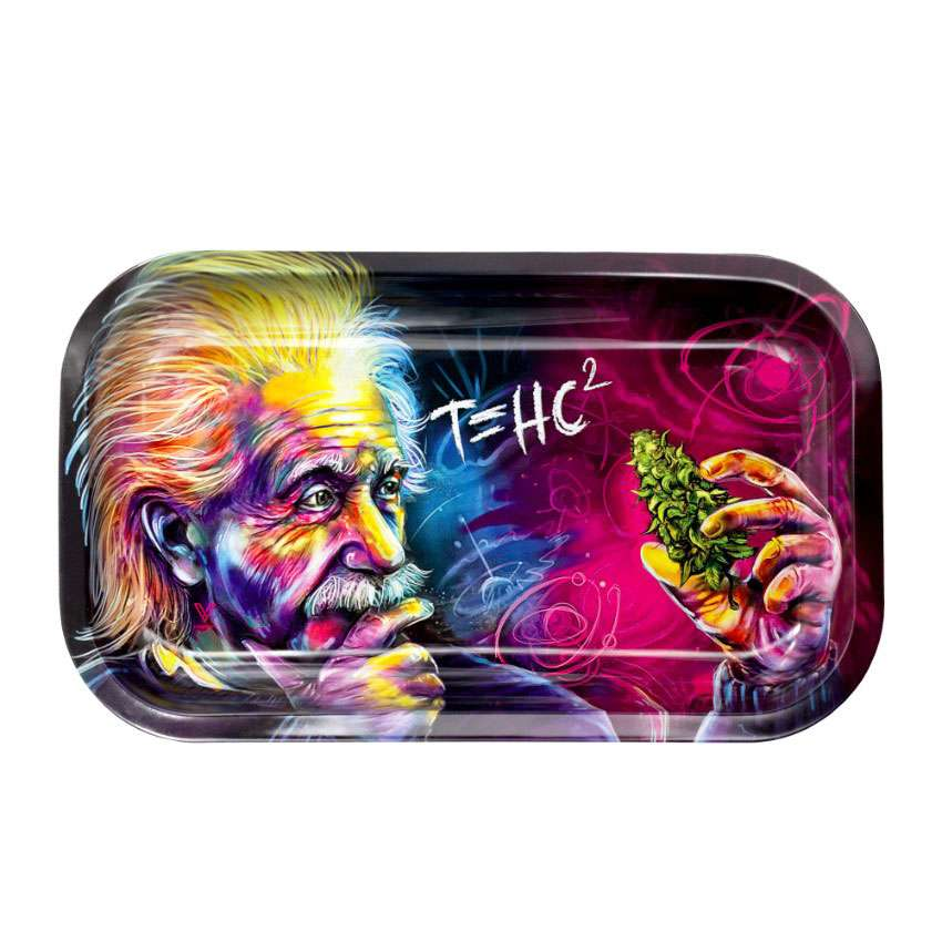 V-Syndicate Einstein Metal Rolling Tray – Med Marley Natural Evertree
