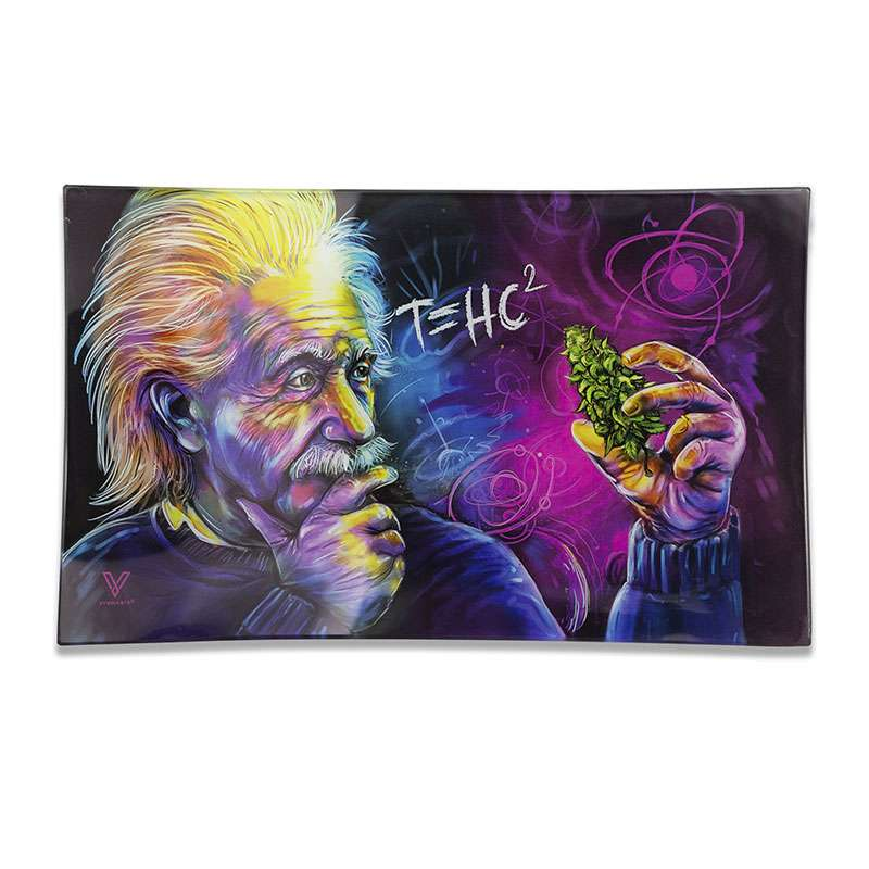 V-Syndicate Einstein Glass Rolling Tray Marley Natural Evertree